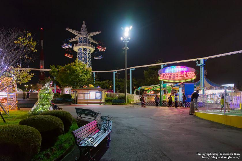 生駒山上遊園地 夜景 2017年9月 04