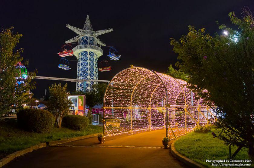 生駒山上遊園地 夜景 2017年9月 05