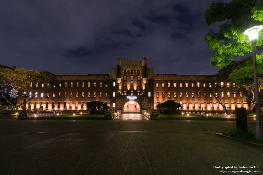 ミライザ大阪城 旧第四師団司令部庁舎 外観 夜景 01