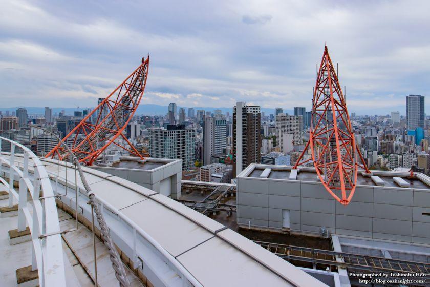 大阪国際会議場(グランキューブ大阪) 屋上 02 アンテナ架台