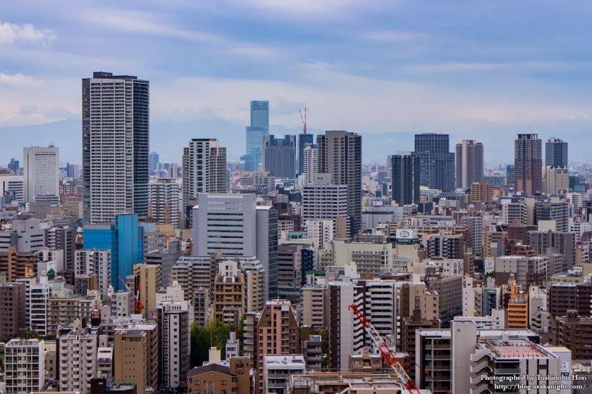 大阪国際会議場(グランキューブ大阪) 屋上 07 難波方面