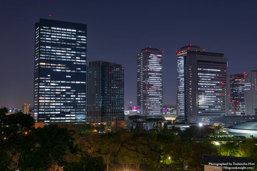 OBP 大阪ビジネスパーク 夜景 2017年11月 04
