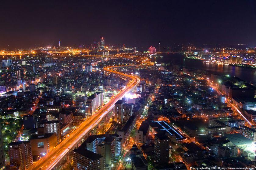 ホテル大阪ベイタワーからの夜景 大阪ベイエリア方面