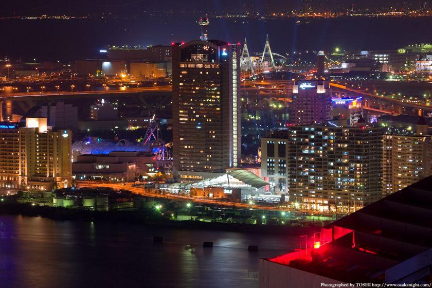 ホテル大阪ベイタワーからの夜景 ユニバーサルシティ