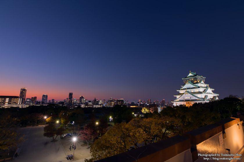 ミライザ大阪城 屋上からのトワイライト夜景
