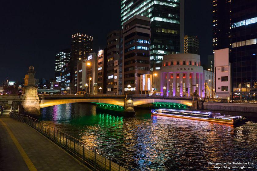 OSAKA光のルネサンス2017 難波橋とアクアライナー