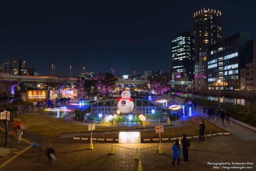 OSAKA光のルネサンス2017 スノーマンパーク in 中之島