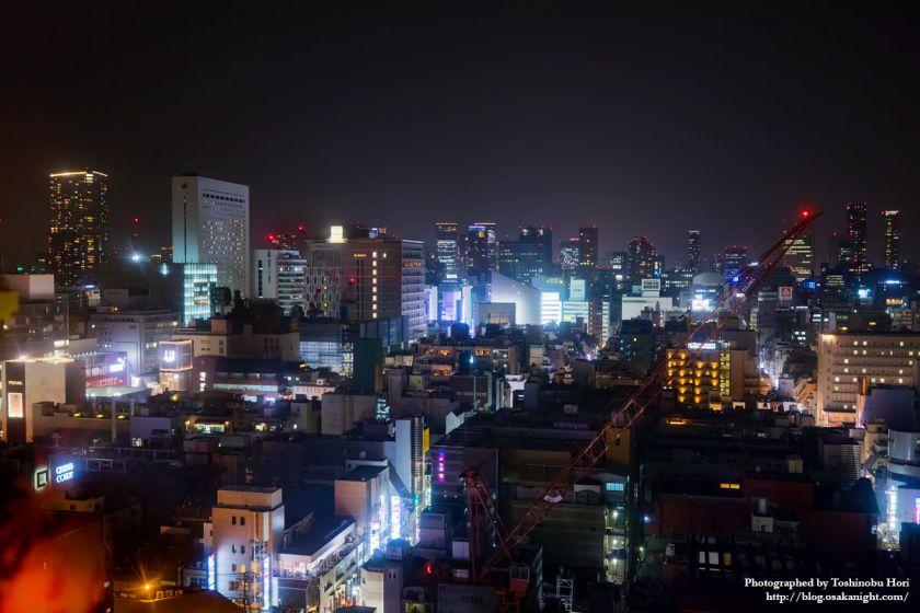 ドン・キホーテ 道頓堀大観覧車 えびすタワー 梅田方面の夜景  2018年1月