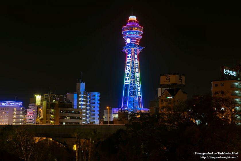 通天閣 2025年国際博覧会誘致 特別ライトアップ 2018年3月 05