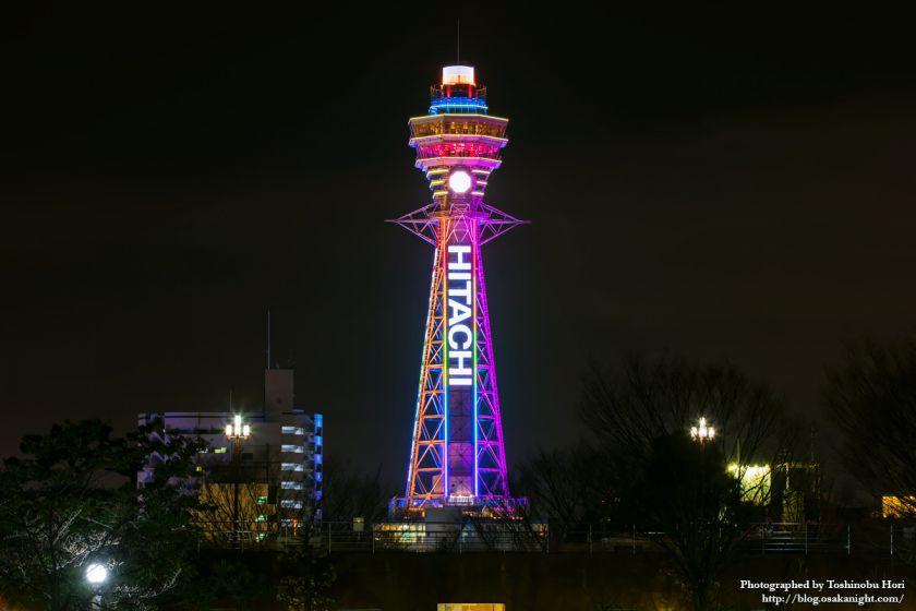 通天閣 2025年国際博覧会誘致 特別ライトアップ 2018年3月 06