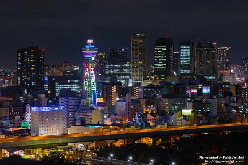 通天閣 2025年国際博覧会誘致 特別ライトアップ 2018年3月 07