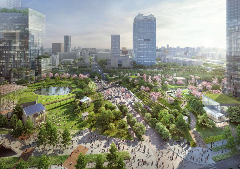 うめきた2期地区 都市公園全景 イメージ