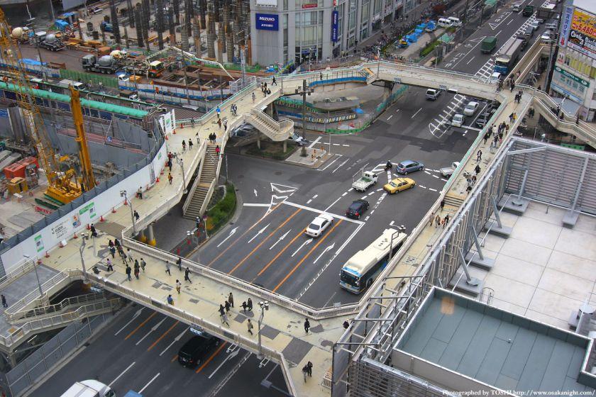 阿倍野歩道橋 2010年4月