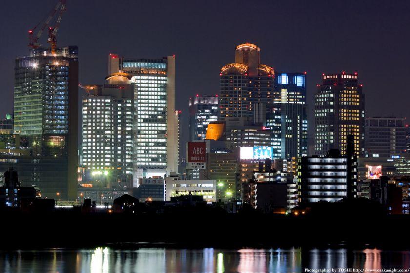 淀川河川公園 西梅田夜景02