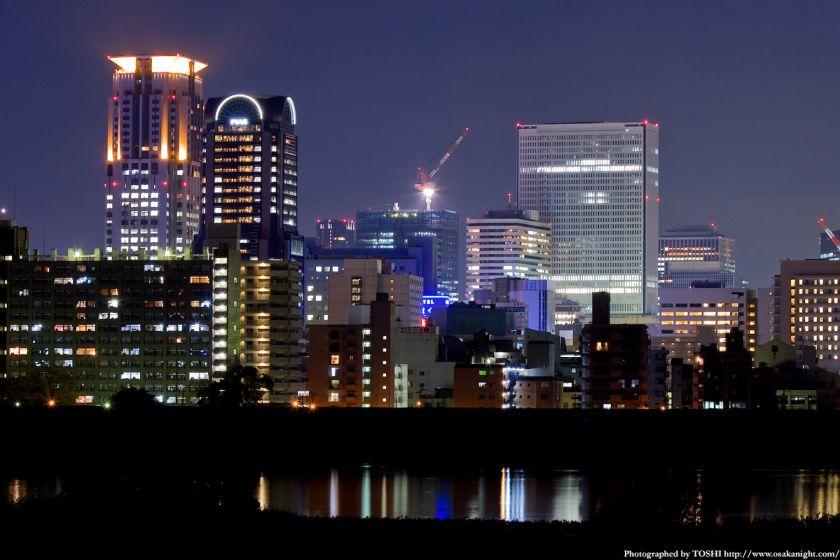 淀川河川公園 茶屋町夜景