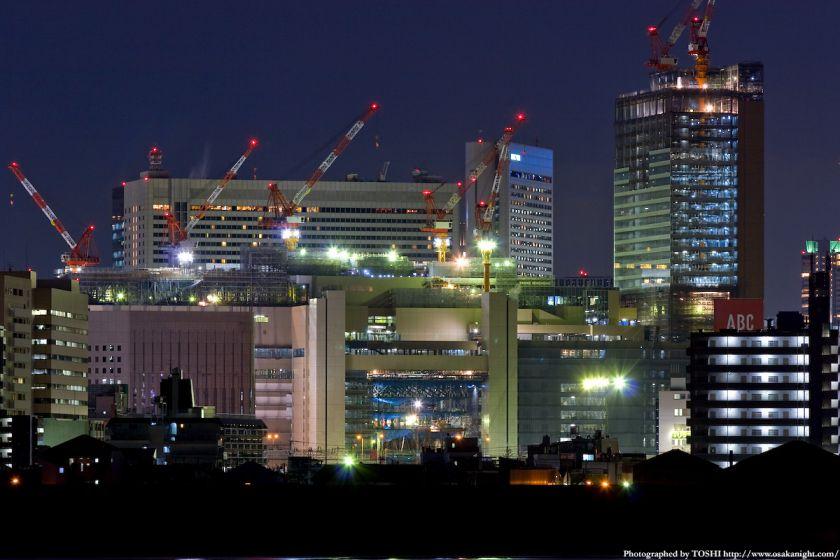 淀川河川公園 JR大阪駅夜景