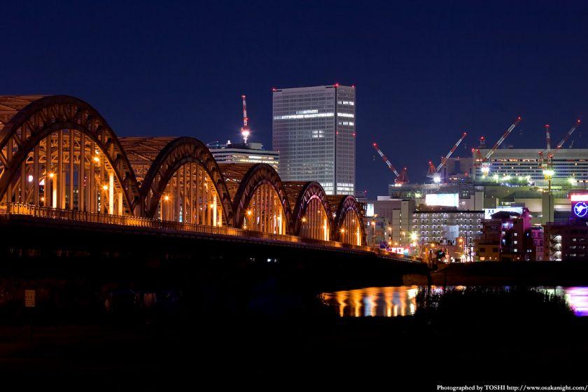 淀川河川公園 十三大橋夜景