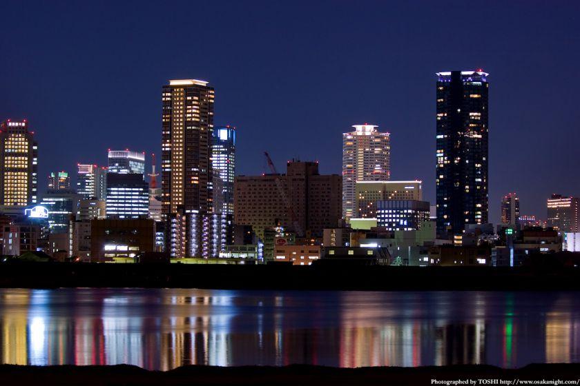 淀川河川公園 福島夜景