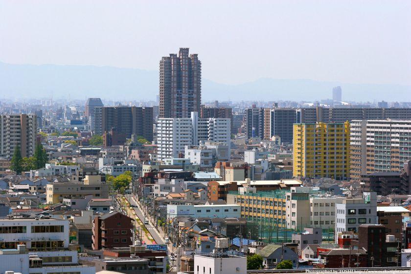 いのちの塔からの眺め 放出駅周辺