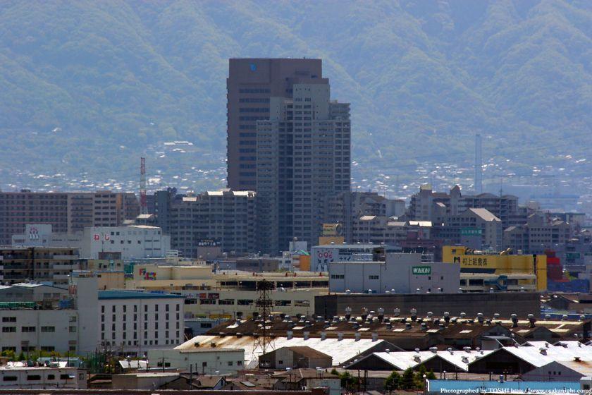 いのちの塔からの眺め 東大阪市役所