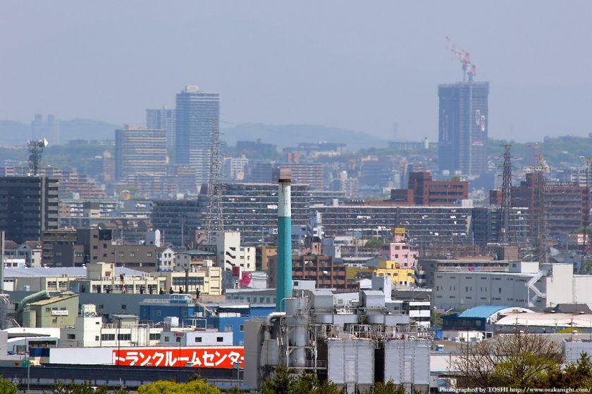 いのちの塔からの眺め 香里園駅周辺