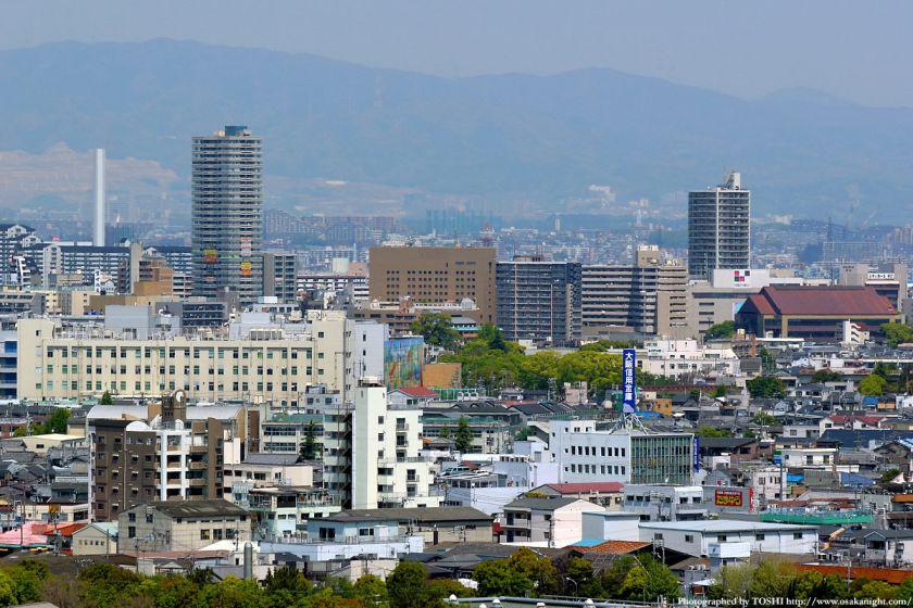 いのちの塔からの眺め 京阪守口市駅周辺
