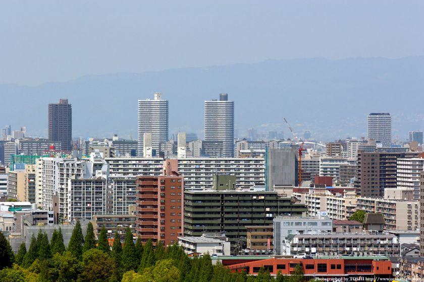 いのちの塔からの眺め 都島タワーマンション群