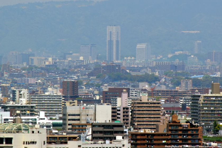 いのちの塔からの眺め 千里中央駅周辺