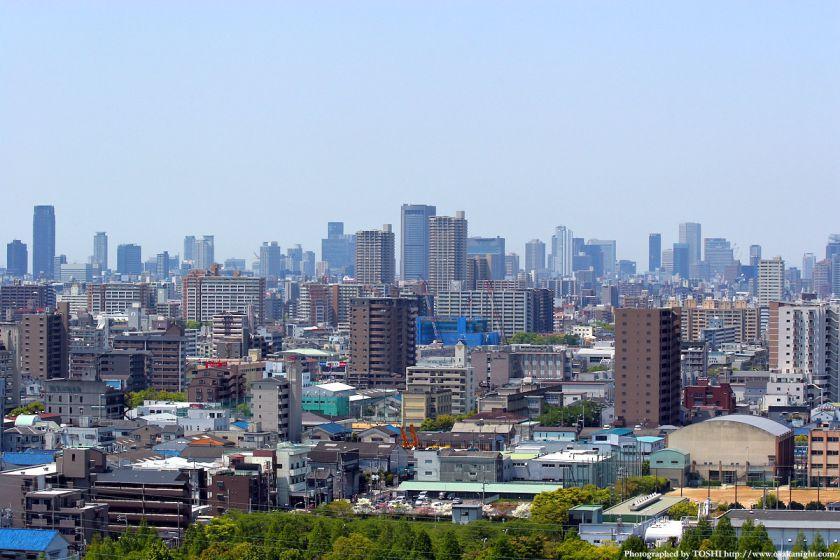 いのちの塔からの眺め 大阪都心方面 02