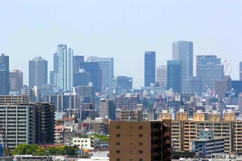 いのちの塔からの眺め 梅田超高層ビル群