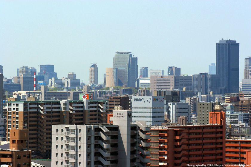 いのちの塔からの眺め 谷町方面