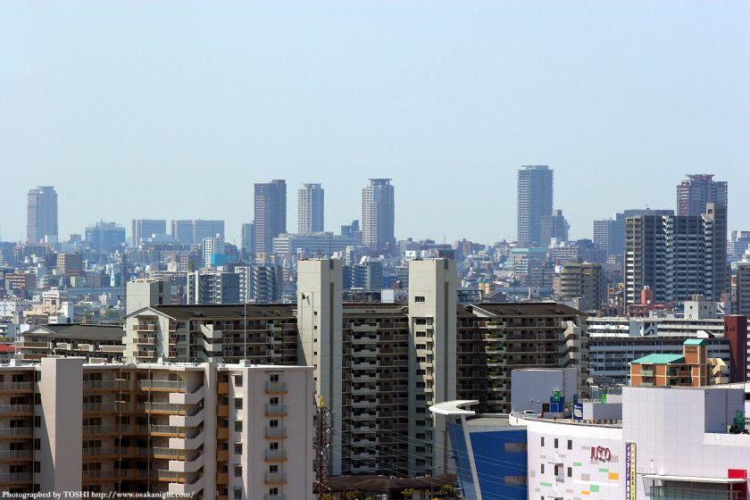 いのちの塔からの眺め 天王寺方面