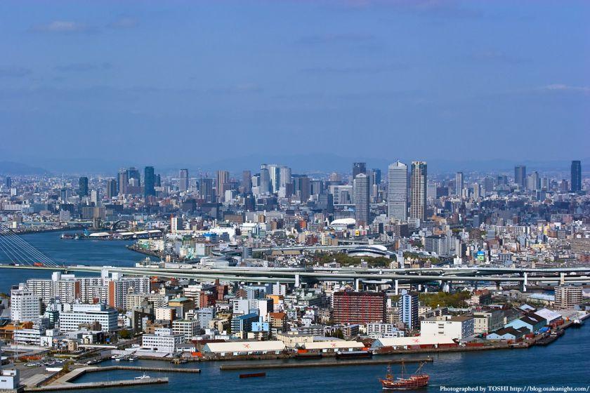 WTCコスモタワーから見た大阪市内