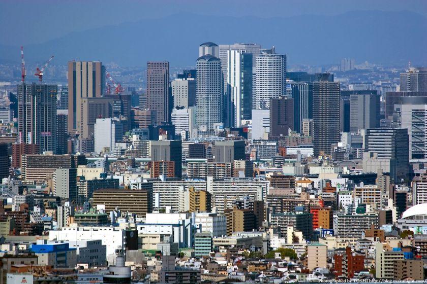 WTCコスモタワーから見た梅田高層ビル群01