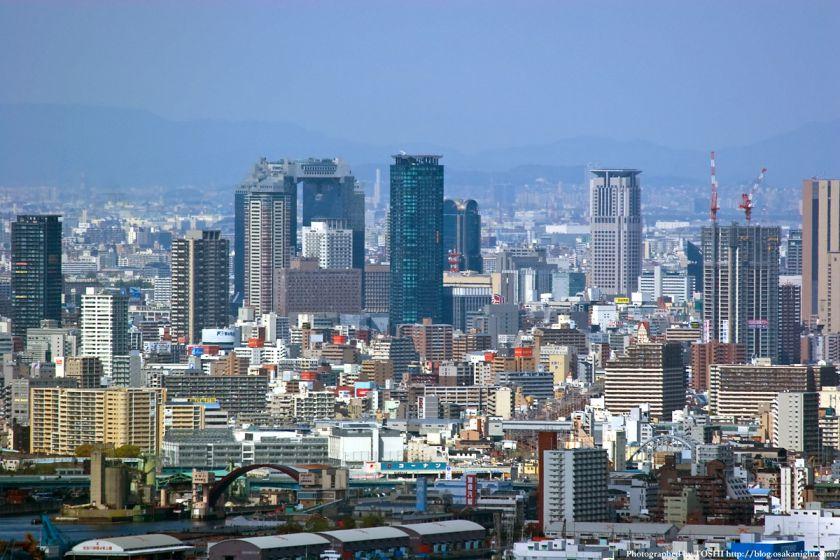 WTCコスモタワーから見た梅田高層ビル群02