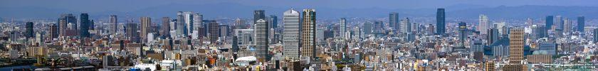 大阪南港 WTCコスモタワーからのパノラマ写真