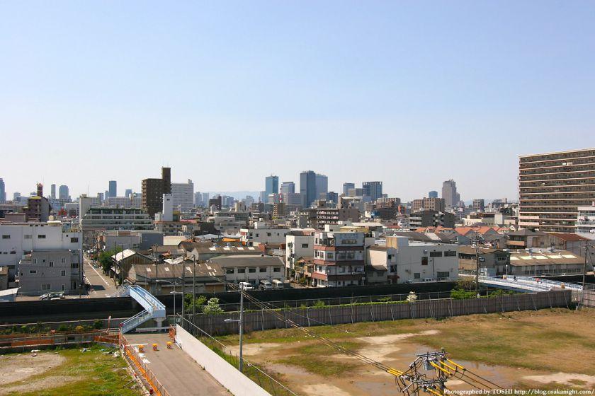 城東区永田から見た大阪中心部