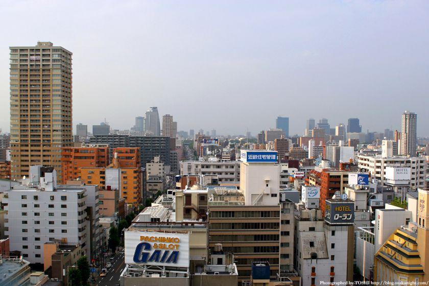 近鉄百貨店上本町店から見た大阪市街