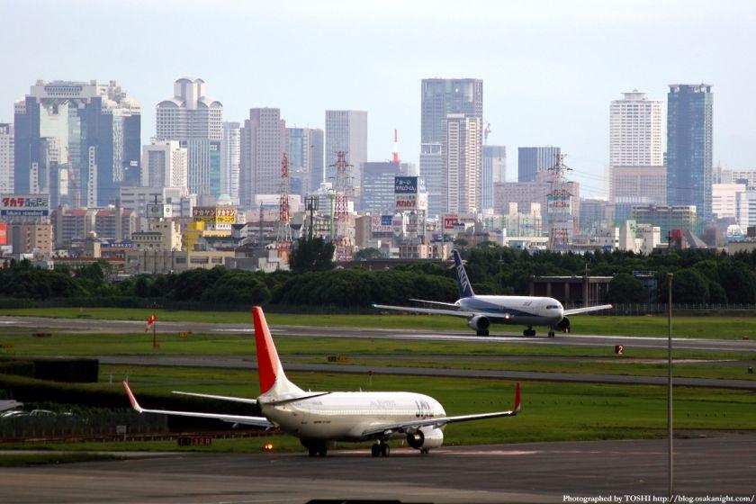 大阪(伊丹)空港から見た梅田の高層ビル群 6