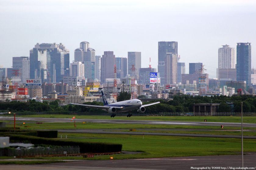 大阪(伊丹)空港から見た梅田の高層ビル群 7