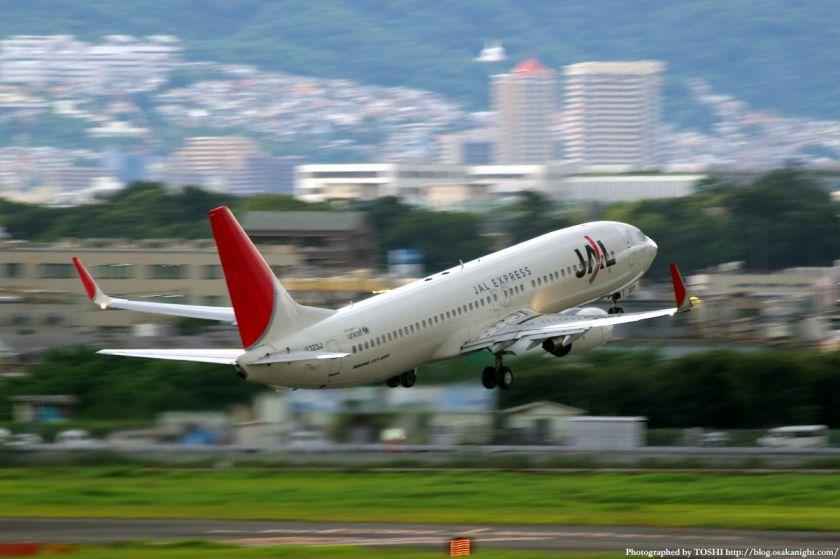 JEX ボーイング737-800型機 伊丹空港