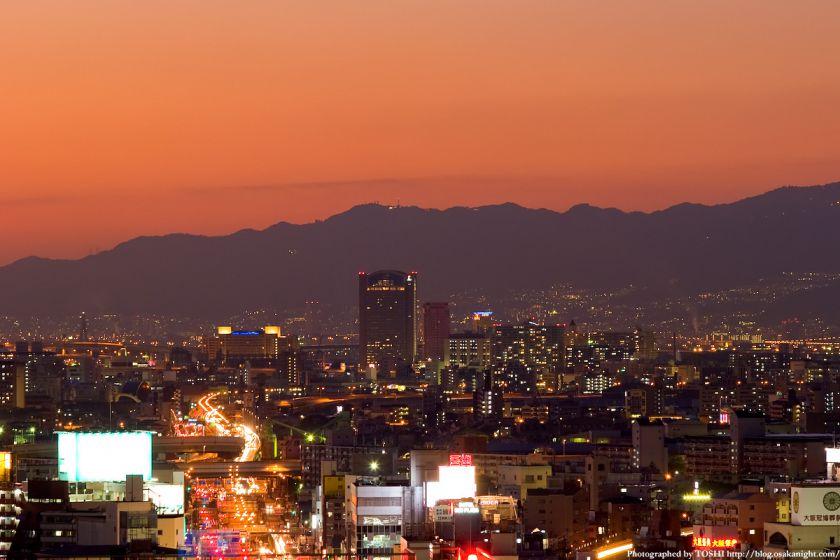 六甲山系 夕景