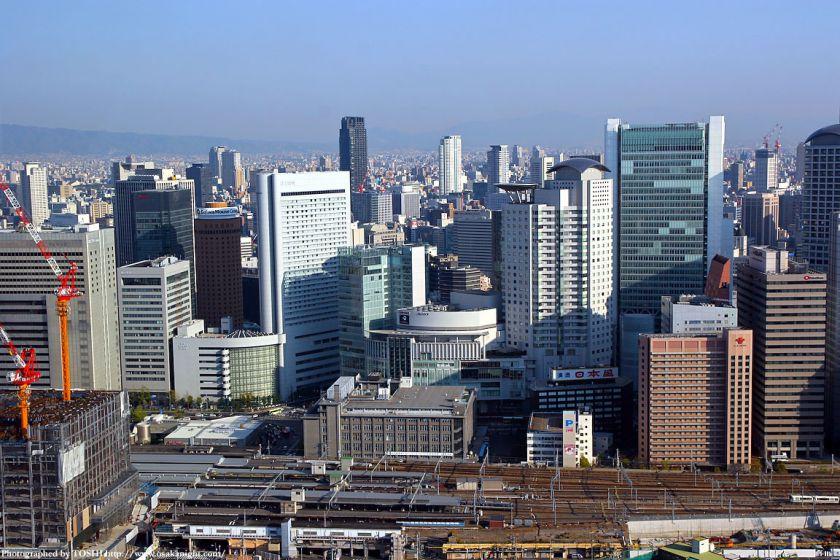 大阪中央郵便局周辺の俯瞰