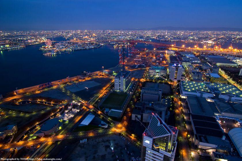 大阪ベイエリアの夕景 from WTC 01
