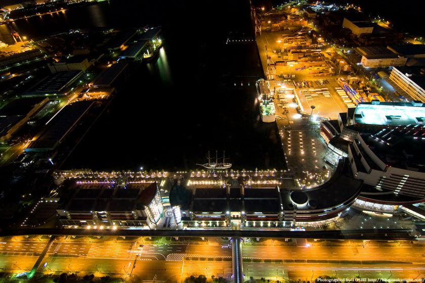 南港ATCの俯瞰夜景