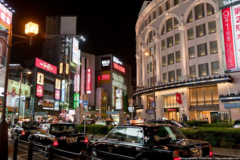 南海難波駅前 夜景 01
