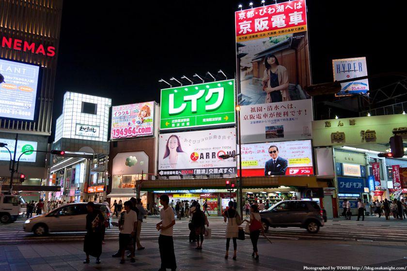 南海難波駅前 夜景 02