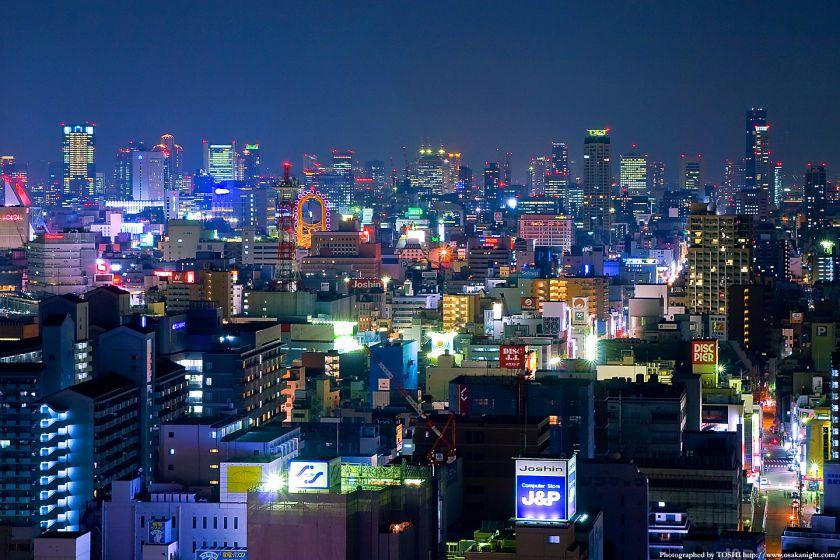 商都大阪の輝く摩天楼