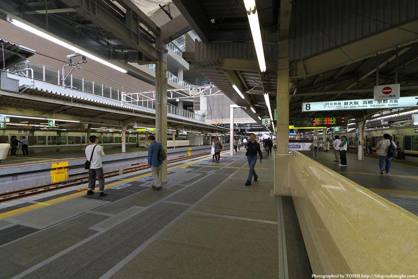 大阪駅 拡幅された7-8番線