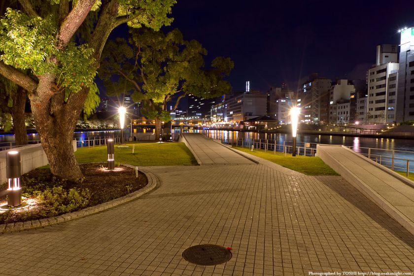 中之島・剣先公園の夜景